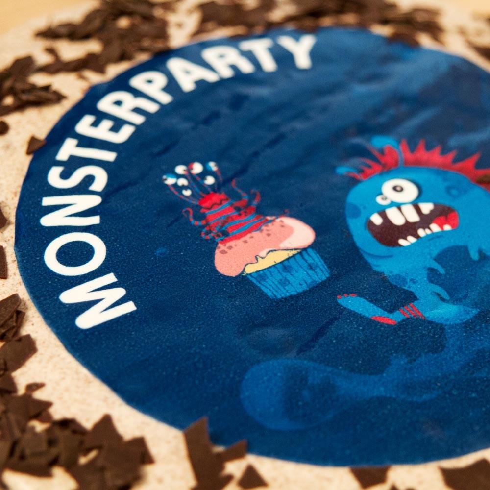 Tortenaufleger mit Foto / Wunschmotiv - Monsterparty